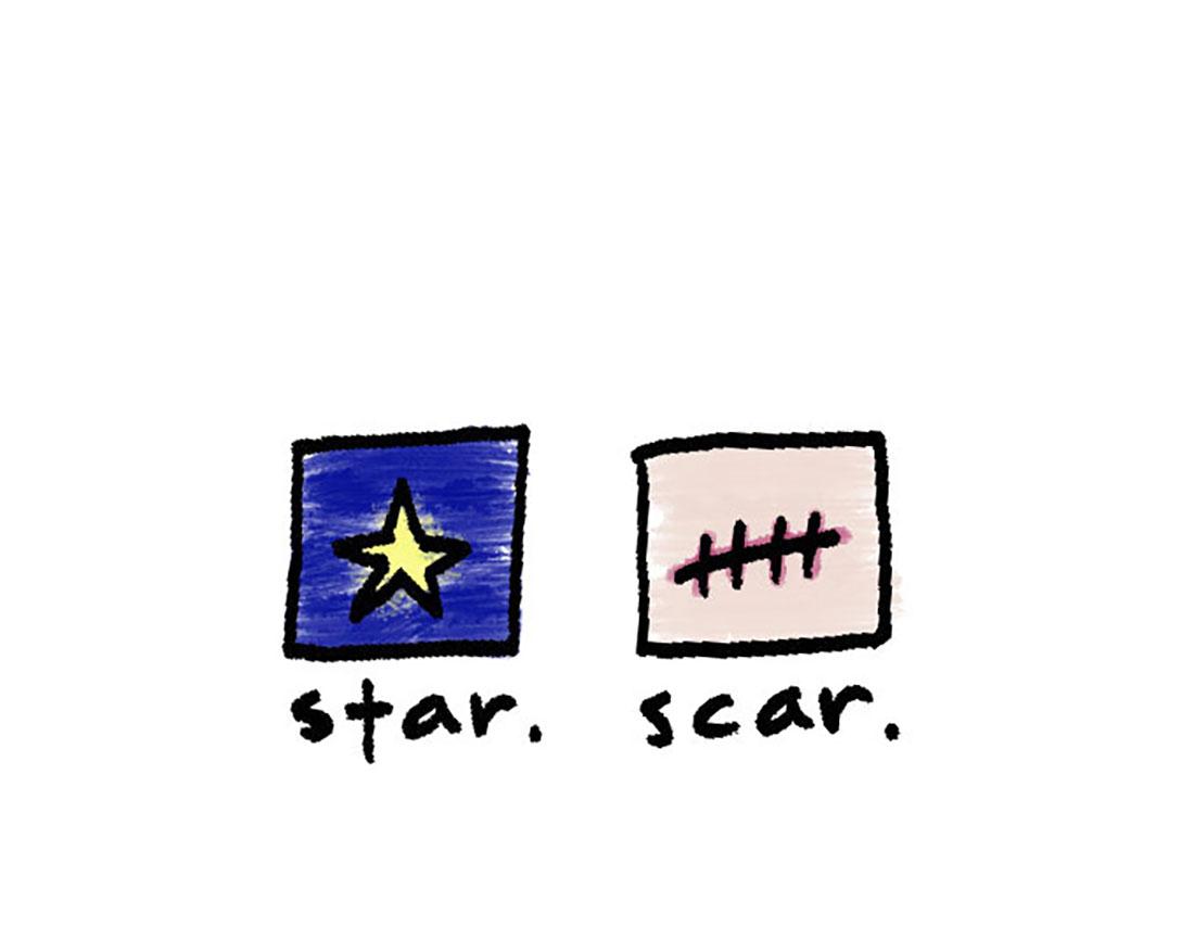 star + scar
